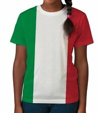 Italy Flag Italian Tricolour Patriotic Colours Summer Girls Unisex Child T Shirt