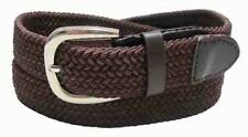 "#501 - 1.25"" WIDE ELASTIC BRAIDED NYLON STRETCH BELT IN BROWN & 6 POPULAR SIZES"