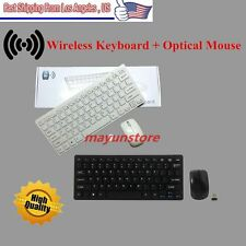 Mini 2.4G DPI Wireless Keyboard and Optical Mouse Combo Black for Desktop PC OY
