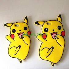 New Cute Cartoon Pokemon Pikachu Rubber Soft Case Cover for iphone 6 6S plus 5S