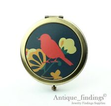 1PCS Red Bird Pocket Mirror,  Flower Folding Durable Mirror 3 Colors HPM001C