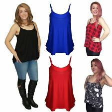 Loose fitting strappy Vest top - Many Colours - Plus Sizes Available