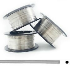 925 Sterling Silver Wire Round Half Hard 24 26 28 30 Gauge 1 15 25 50 Feet
