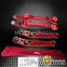 Front & Rear Lower Control Arm Subframe Bar Kit Civic 92-95 Integra 94-01 Red (Fits: Integra)