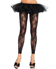 New Leg Avenue 7888 Floral Lace Footless Tights Leggings