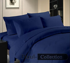 New 600-800-1000-1200TC Navy Blue Solid 1000TC 100% Egyptian Cotton US Bedding