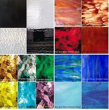 """Spectrum & Wissmach Stained Glass Sheets - Variety Packs (8""""x10"""" each sheet)"""