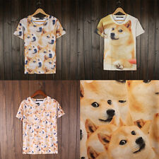 Summer Fashion 3D Print T-shirt Doge T Shirt Short Sleeve Women Men wonderful JB
