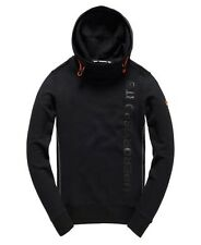 Superdry Mens Gym Tech Funnel Neck Hoodie BLACK