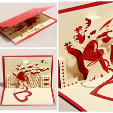 3D Greeting Cards Paper-cut Folding Gift Card Postcards Handmade Gift Cards
