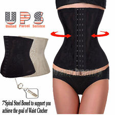 Waist Trainer Body Shaper Tummy Control Girdle Belt Black Cincher Corset TB