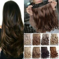 Real Thick 1pcs in 3/4 Full Head Hair Extensions Extension As Human Hair H818