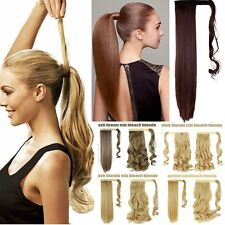 mega long Clip In Hair Extension wrap around clip on ponytail hair natural H714