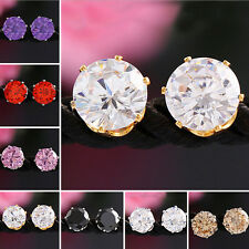 One Pair Women Lady Elegant Crystal Rhinestone Ear Stud Earrings Fashion Jewelry