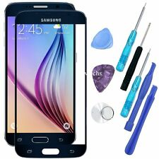 Front Touch Screen Lens Glass Replacement/ Tools Kit for Samsung Galaxy S6 Black