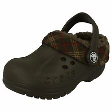 Crocs Blitzen Winter Plaid Kids Clogs Chocolate/CHOCOLATE
