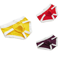 Men's Sexy Cotton Thong Low Rise Soft Mesh Underwear Briefs Boxers Underpant