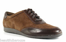 Cole Haan Gilmore Oxford Brown Chestnut Suede & Leather Shoes NIB D40606 Size 8