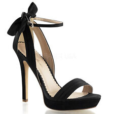 """FABULICIOUS LUMINA-25 Women's 4 3/4"""" Heel Closed Back Ankle Strap Sandals"""