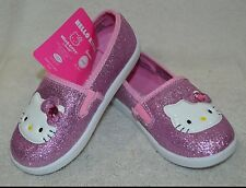 Hello Kitty Girl's Sparkle Pink Sparkle Slip On Sneakers- Size 8/ 9