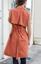 New Beginning Boutique Helix Sleeveless Trench Coat Rust