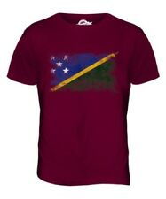 SOLOMON ISLANDS DISTRESSED FLAG MENS T-SHIRT TOP SOLOMON AELAN SHIRT JERSEY GIFT