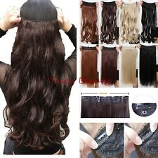 100% Natural 3/4 Full Head Clip In Hair Extensions Real Thick Straight Curly H97