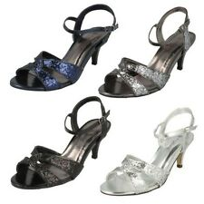 Ladies Anne Michelle Glitter Evening Shoes