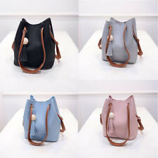 Women Girls Tassel Leather Satchel Handbag Shoulder Tote Messenger Crossbody Bag