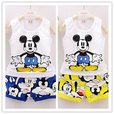 Toddler Baby Boys Clothes Tops T-shirt+Short Pant Mickey Mouse Kids Outfits New