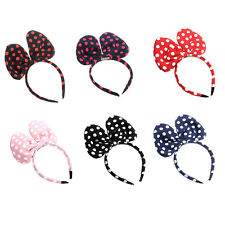 Girl's Big Cute Bowknot Dot Hair Accessory Rabbit Ear Headband Bow Clip Lady NEW