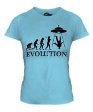 UFO INVASION EVOLUTION OF MAN LADIES T-SHIRT TEE TOP GIFT ALIEN SPACE SHIP CRAFT