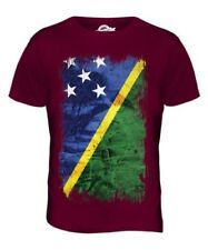 SOLOMON ISLANDS GRUNGE FLAG MENS T-SHIRT TEE TOP SOLOMON AELAN SHIRT JERSEY GIFT
