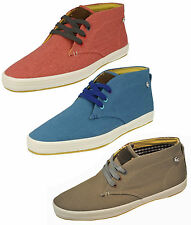 MENS FISH N CHIPS BY BASE LONDON LACE UP CANVAS BOOT CASUAL TRAINER SHOES ROD