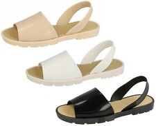 SALE LADIES SAVANNAH SLING BACK FLAT OPEN TOE MULE SUMMER SANDALS F0795