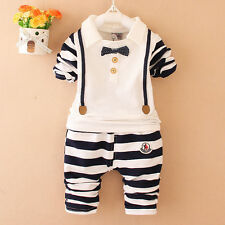 Baby boys Clothing Sets Fashion Autumn 2pcs Suit cute striped T- Shirt +Pants