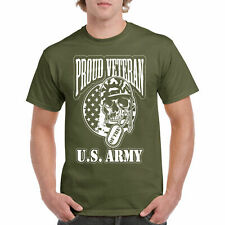 Shirt T Proud US Veteran S Mens Tee Army U Navy Military Mos Graphic United Dad