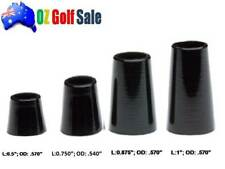 9pk .355 Taper Tip Iron Ferrule Ferrules Black - for Tapered Tip Shaft - 4 Sizes