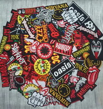 Wholesale lot Badge Patch Iron Sew Embroidered Punk Rock Heavy Metal Music Rock