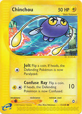 Chinchou Common Pokemon Card e-Aquapolis 71/147