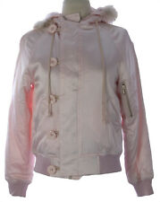PRIORITIES Women's Pink Silk Fur Lined Hood Coat #9005D $162 NEW