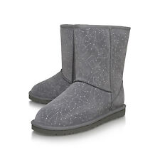 UGG Grey Swarovski Constell BNIB £180 Women Ladies Calf BOOTS Shoes Size 5 6 7 8