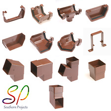 Brown SQUARE Guttering and Fittings Gutter Size 117mm x 57mm x 3.6m