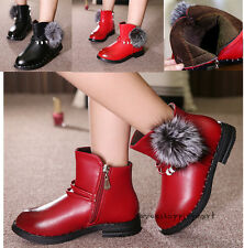 2016 Winter New Kids Martin Boots Girls Zipper Warm Ankle Boots Shoes Size 8.5-3