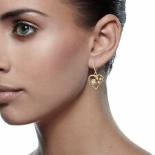 Jewelry 18K Yellow Gold Filled Crystal Perfect Dangle Drop Earrings 186-187