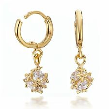 Jewelry Gold Filled made with Swarovski Crystal Elements Sparkling Loop Earrings