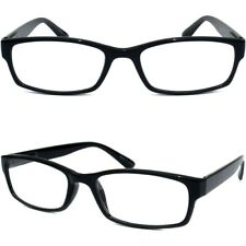 Reading Glasses Clear Full Lens Readers Men Women Nerd Polite Black Frame New