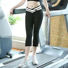 Women Ladies Gym Workout Sports Leggings Fitness Yoga Capri Pants Trousers S-XL