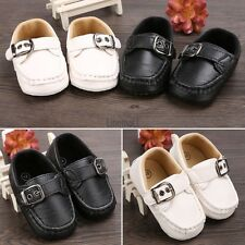 Baby Infant Boy Girl Toddler First Walker Casual Soft Faux Leather Shoes GT LM