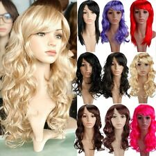 Hot in Halloween Carvinal Party Women Long Straight Curl Full Wig Synthetic Hair